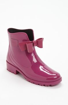 RED Valentino 'Bow' Rain Boot (Women) available at #Nordstrom