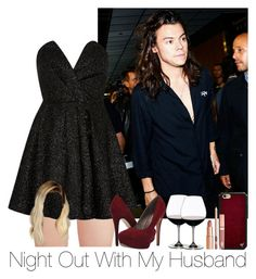 """»Night Out With My Husband."" by storyofmylife1danita-scream ❤ liked on Polyvore featuring River Island, Michael Antonio, Riedel and Wildflower"