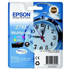 Epson (original) This Epson high capacity multipack contains: 1 x Epson cyan ink cartridge 1 x Epson magenta ink cartridge 1 x Epson yellow ink cartridge Inkjet Printer, Epson, Magenta, The Originals, Yellow