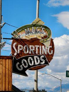 Mac's Sporting Goods neon sign - Bishop, CA Photo Credit: Scott Sanders