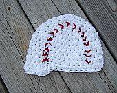 Crochet Baseball Beanie - Newsboy Style - Newborn - 5T - Photography Prop - Made to Order