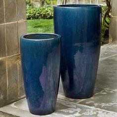 campania rioja planter set of 2 the campania rioja planter set of 2 adds practical whimsy to your outdoor living space - Large Ceramic Planters