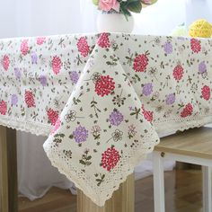 Fashion Linen Cotton Tablecloth Hyacinth Printed Table Covers for Kitchen Dust Proof Rectangular Table Cloth Wedding Decoration House Party, Decorative Accessories, Home Accessories, Table Top Covers, Wedding Tablecloths, Tablecloth Fabric, Dining Table In Kitchen, Creative Decor, Table Linens