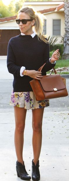 Floral Shorts Outfit Idea by Damsel In Dior