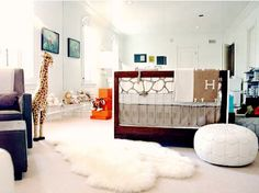I have become obsessed with Rachel Zoe's show on Bravo. This is her son's nursery which is absolutely to die for.