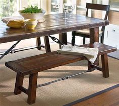 Pottery Barn Benchwright Table and bench