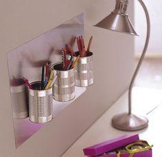 A idéia aqui é sustentabilidade e criatividade...