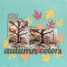 #papercraft #scrapbook #layout. Autumn Colors - Scrapbook.com