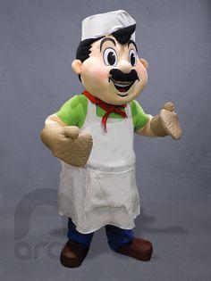 """Botarga para Panadería """"Don Toño"""" ¡Conoce más botargas de figuras humanas aquí! http://www.grupoarco.com.mx/venta-de-botargas/botargas-de-figuras-humanas-en-mexico/"""