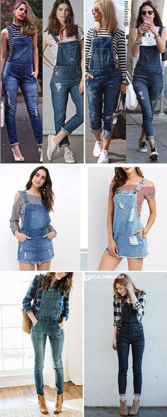 Macacão e jardineira jeans para festa junina. Casual Outfits, Cute Outfits, Emo Outfits, Summer Outfits, University Outfit, Jean Top, Punk Fashion, Lolita Fashion, Lolita Dress