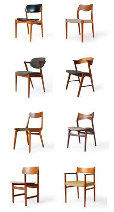 modern furniture So many amazing mid-century modern chair styles to choose from! Danish Furniture, Scandinavian Furniture, Home Furniture, Furniture Design, Antique Furniture, Wooden Furniture, Danish Chair, Office Furniture, Scandinavian Dining Chairs