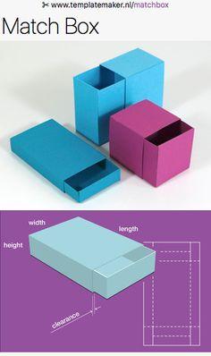 Templatemaker.nl ✂︎ Free custom packaging and papercraft templates. Générateur de gabarits personnalisables piur créer ttes sortes de boîtes!