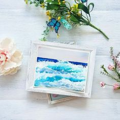 Watercolor waves print ocean watercolor print beach art Watercolor Wave, Water Waves, Beach Art, Palm Trees, Sea Shells, Artsy, Ocean, Handmade Gifts, Palm Plants