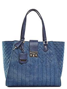 GUESS Women's Kalen Carryall Denim Handbag GUESS