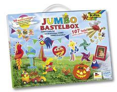 Die Jumbo Bastelbox mit mehr als 100 Teilen von Max Bringmann! Grenzenloser Bastelspaß und maximale Kreativität. Mehr unter http://www.folia.de