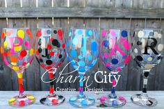 Wine Glasses Personalized With Initial Birthday, Wedding, Engagement, by ahindle78 on Etsy https://www.etsy.com/listing/113419884/wine-glasses-personalized-with-initial