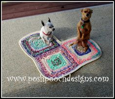 Posh Pooch Designs Dog Clothes: Heart Shaped Dog Rug Free Crochet Pattern | Posh Pooch Designs