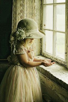 Girl, kid, child, pretty, hat, skirt, window, hands, beauty, cute, nuttet, precious, sweet, photo