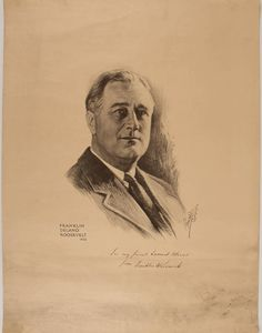 Portrait of FDR, Signed and Inscribed by Roosevelt to Samuel Messer  $1,400