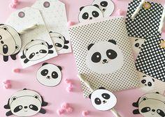Kit Papelaria Panda.