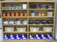 Eggers Art Room Organization - recycled containers