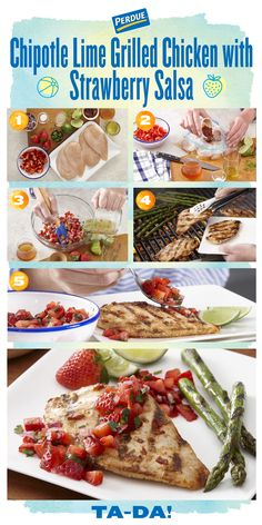 Better make extra, everyone will want seconds of this recipe! Pick up some PERDUE® PERFECT PORTIONS® Chicken to try our Chipotle Lime Grilled Chicken with Strawberry Salsa. Get the full recipe at perdue.com..