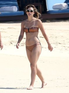 Pin for Later: Take a Virtual Vacation With the Most Stylish Beach-Bound Celebs Katharine McPhee Katharine McPhee upped the impact of her bikini with a pair of white framed sunglasses.