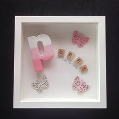 Personalized Scrabble Frame by HandcraftedByChloe on Etsy