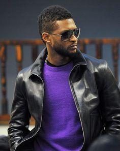 Usher Raymond love this purple sweater