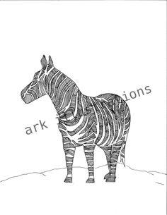 Zebra. $20.00, via Etsy.