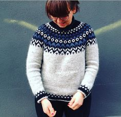 Ravelry: Project Gallery for Riddari pattern by Védís Jónsdóttir for Ístex Pullover Design, Sweater Design, Fair Isle Knitting Patterns, Knit Patterns, Diy Knitting Projects, Icelandic Sweaters, Sweaters For Women, Men Sweater, Knit Picks