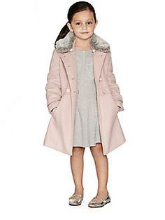 Tartine et Chocolat - Toddler's & Little Girl's Gold Piped Coat