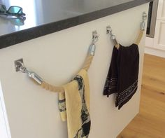 ROPE TOWEL HOLDER rack handmade Hempex rope for by JackTarsLocker