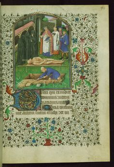 Book of Hours (for use of Amiens) Burial service Walters Manuscript W.262 fol. 90r by Walters Art Museum Illuminated Manuscripts