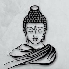 Easy Doodle Art, Doodle Art Drawing, Cool Art Drawings, Pencil Art Drawings, Art Drawings Sketches, Budha Painting, Styrofoam Art, Buddha Artwork, Buddha Drawing