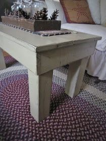"This weeks piece of the week is this rustic coffee table and candle box centerpiece. The table measures 36"" long. Its 18 1/4..."