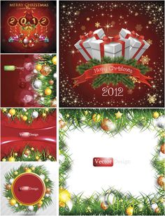 Festive Christmas backgrounds vector