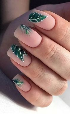 27 Chic and Stylish Summer Nail Design Ideas  #NailDesign