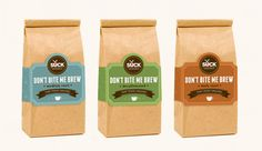 Don't Bite Me Coffee Packaging by Naomi Francois, via Behance #package #design