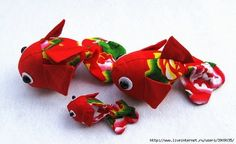 Pattern of a fish - carp. How to sew a goldfish / Master-class Sea Crafts, Baby Crafts, Fish Patterns, Doll Patterns, Sewing Patterns, Fabric Fish, Felt Fish, Ideas Prácticas, Baby Ideas