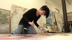 Discover Taiwanese painter Yiching Chen's studio. Yiching an acknowledged master in the art of the Nihonga painting (traditional Japanese painting). #painting #pigments #ink #AsianArt #NihonGa