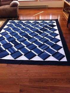 "Bonnie Vega: ""My brother LOVES his new king size levi quilt that I made him and my sister-in-law for Christmas. what a great way to use old ..."