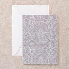 Lavender Vintage Antique Victorian Flourish Damask Greeting Cards> Lavender Vintage Antique Victorian Flourish Damask> Pattern Designs