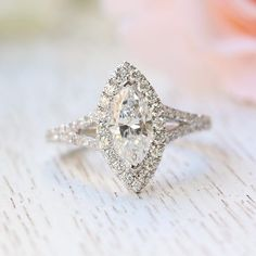 18K White Gold Marquise The Charlotte Engagement Ring