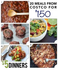 20 Meals from Costco for $150 – Recipes & Printable Shopping Lists