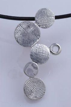 Sterling Silver Custom Family Pendant Fingerprint Jewelry by fabuluster. $295.00, via Etsy.