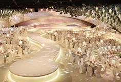A Sea of Pastels - DesignLab Experience White Wedding Decorations, Luxury Wedding Decor, Ceremony Decorations, Wedding Themes, Wedding Events, Wedding Designs, Wedding Ceremony, Indian Wedding Stage, Arab Wedding