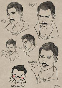 [facial expressions] Dorian by slugette on DeviantArt