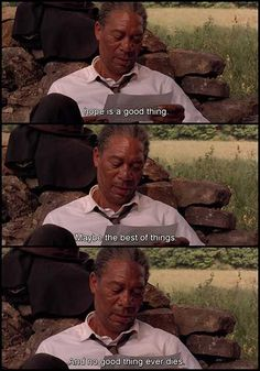 "Read The Shawshank Redemption Movie Quotes - Top rated movie on the IMDB list. The movie revolves around ""Hope"". Tv Show Quotes, Film Quotes, New Quotes, Book Quotes, Inspirational Movie Quotes, Motivational Quotes, Shawshank Redemption Quotes, Shawshank Quotes, Die Verurteilten"