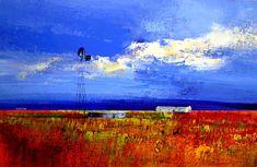 Artwork of Derric van Rensburg exhibited at Robertson Art Gallery. Original art of more than 60 top South African Artists - Since Abstract Landscape Painting, Landscape Paintings, Landscapes, South African Artists, Palette Knife Painting, Painting Techniques, Home Art, Coastal, Original Art